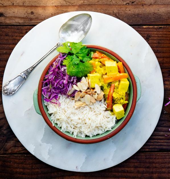 Receta tofu con verduras thaiInstant Pot