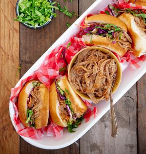 Sándwich de cerdo barbecue