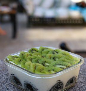 Yogurt cake de kiwi