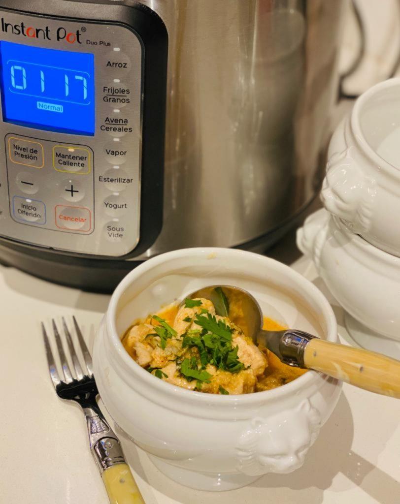 Receta curry de pollo Instant Pot