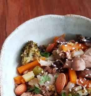 Chapsui de pollo y verduras