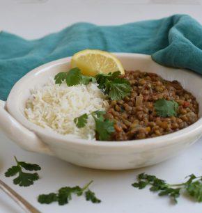 Curry de lentejas thai