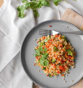 Mote y verduras