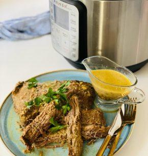 Palanca en salsa de perejil y mostaza