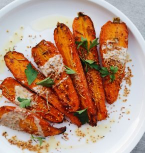 Zanahorias asadas con ghee