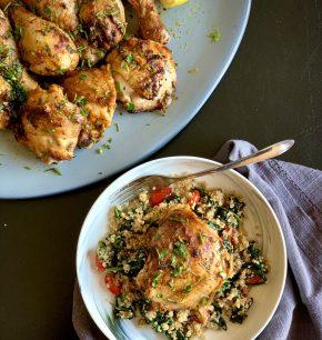 Pollo rostizado al limón y perejil