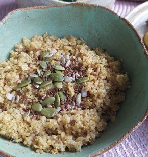 Lentejas rojas con quinoa