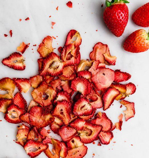 Frutillas deshidratadas