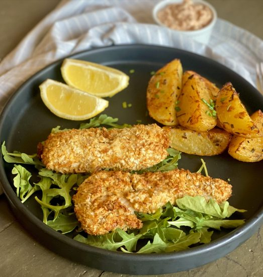 Fish & chips con tártara de chipotle