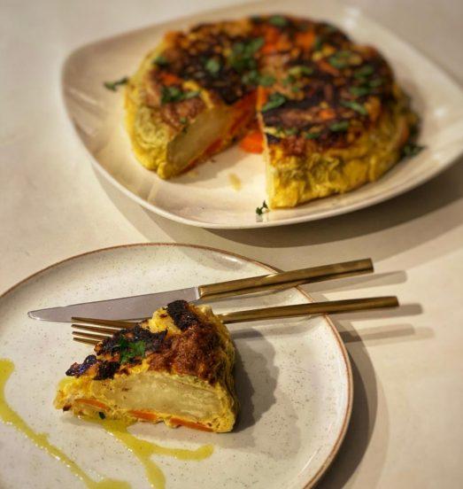 Tortilla de papa y zanahoria