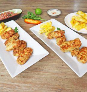 Croquetas de pescado con salsa acebichada